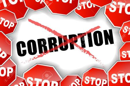 Vector illustration of stop corruption concept background